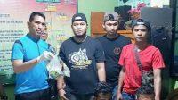 Kapolres Pasaman, AKBP Hendri Yahya beserta jajaran perlihatkan barang bukti sabu.