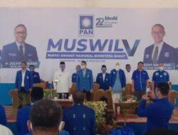 Terpilih Aklamasi, H. Indra Dt Rajo Lelo Pimpin DPW PAN Sumbar 2020-2025