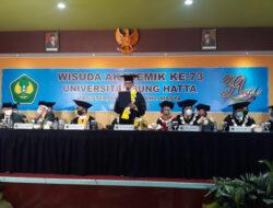 Dilakukan Secara Daring, Universitas Bung Hatta Wisuda 781 Lulusan