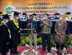 Dies Natalis ke-40 dan Lustrum VIII, Universitas Bung Hatta Miliki Tujuh Guru Besar