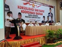 Rakorda Gerindra di Bukittinggi, Ahmad Muzani; Jaga Kepercayaan Rakyat