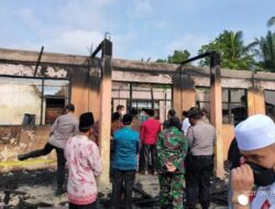 Sutan Riska Tinjau Lokasi Kebakaran di Ponpes Nurul Iman
