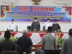 Eka Putra Jawab Pertanyaan Fraksi DPRD Soal RAPBD Perubahan